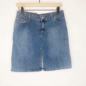 Jordache Vintage Low-rise Denim Skirt sz 5/6